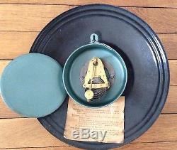 Très rare horloge émaillée bombée BIERES MOTTE-CORDONNIER vers 1930