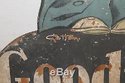 Très rare publicité GOODRICH signé GEO HAM sur panneau bois, garage, automobile