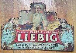 Très rare tôle lithographiée LIEBIG vers 1900 superbe