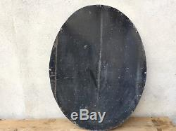 Tres Grande Plaque Emaillee Potasse D'alsace 1 Metre D'origine