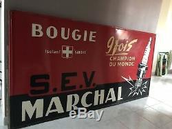 Très Rare Panneau Publicitaire Bougie Marchal No Plaque Émaillée