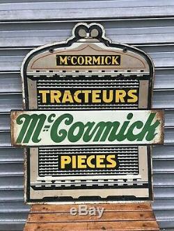 Tres Rare Tole Materiel Agricole MC Cormick Tracteur Et Pieces