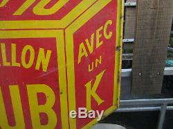 Très belle Plaque émaillée BOUILLON KUB, 0F10, perspective 1mx1 m