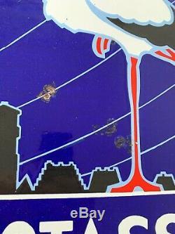 Très belle Plaque émaillée POTASSE D'ALSACE double peu courante 60x45cm année 40