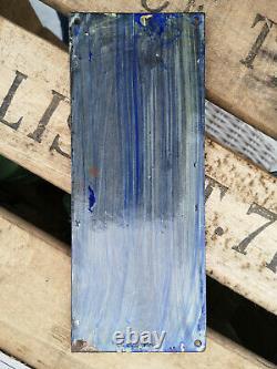 Très belle et rare plaque émaillée de propreté Kandy Thé Norvège