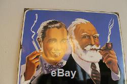 Très belle plaque émaillée AJJA en excellent état d'origine tabac