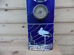 Tres grande plaque emaillèe thermometre POTASSE D ALSACE