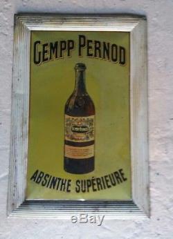 Très rare Tôle peinte Vintage ABSINTHE GEMPP PERNOD art nouveau deco 1915