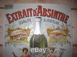 Tres rare beau carton absinthe dornier tuller fleurier suisse pontarlier france