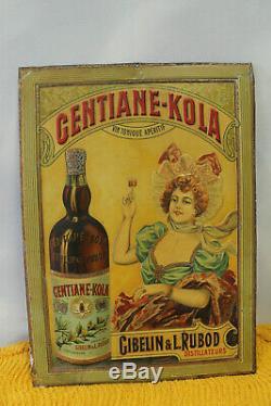 Très rare tole lithographiée GENTIANE KOLA état superbe d'origine