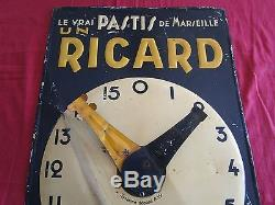 UN RICARD le vrai PASTIS de Marseille rare tole litho compteur de boule 1935