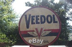 Vecchia Insegna Pubblicitaria Veedol Motor Oil