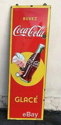 VERITABLE Ancienne Plaque émaillée ancienne COCA COLA GROOM 1957 deco loft