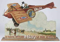 Valda Automate Aeroplane A Toute Vitesse Porte Le Bon Remede Vintage Publicité