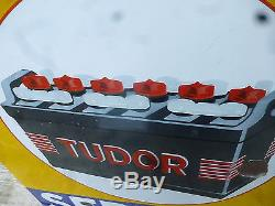 Vecchia insegna smaltata batterie tudor