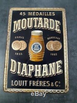 Vends Ancienne Et Rare Tole Litho Diaphane