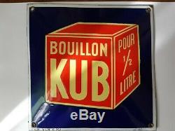 Vends Ancienne Plaque Émaillée Kub
