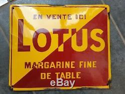 Vends Ancienne Plaque Émaillée Lotus