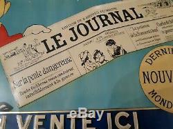 Vends Ancienne Tole Litho Le Journal