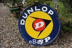 Vends Plaque Emaillee (ronde) Dunlop