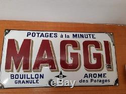 Vends Superbe Plaque Emaillee Maggi