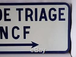 Vintage Ancienne Plaque Emaillee Sncf Gare De Triage 1980
