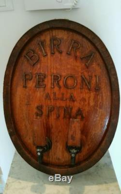 Vintage Antico spillatore BIRRA PERONI no insegna smaltata beer advertising