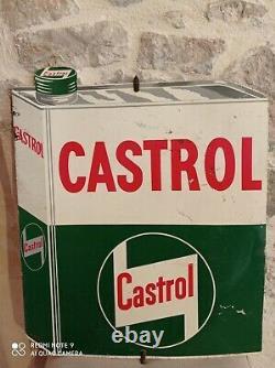 Virovent Castrol en forme de bidon d'huile! Belle Tôle Publicitaire / Garage