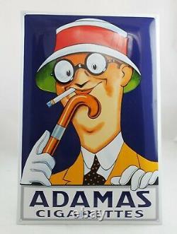 XL Adamas Cigarettes 60x40 cm Plaque en Email Émaille Bouclier Émail