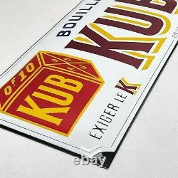 XL KUB Bouillon Logo 25x50 CM Plaque en Email Émaille Plaque Émail Signer