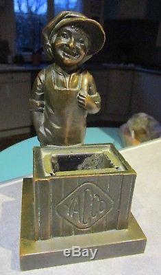 YACCO rare statuette en bronze signée H. MOLINS