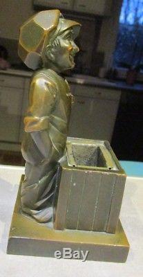 YACCO rare statuette signée H. MOLINS